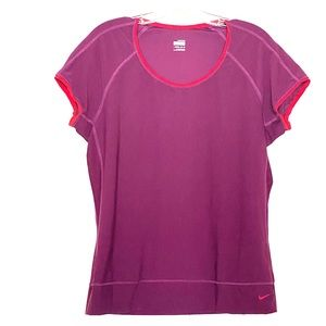 NIKE FIT DRY XL 16-18 TEE SHIRT WORKOUT Gear Top